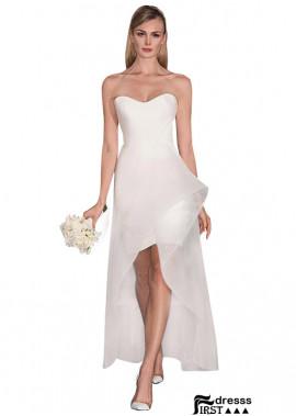 Firstdresss High Low Short Wedding Dress