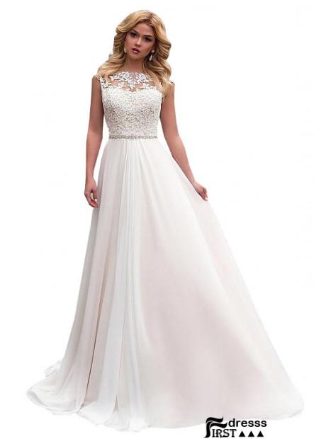 Firstdresss Beach Long White Wedding Dress Online