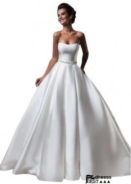 Firstdresss Strapless Beach Wedding Ball Gowns 2021