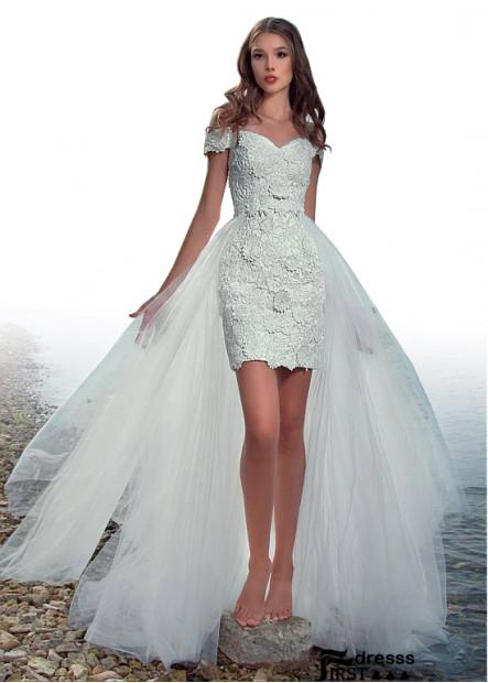 Firstdresss Cheap Short Modest Wedding Dress Patterns