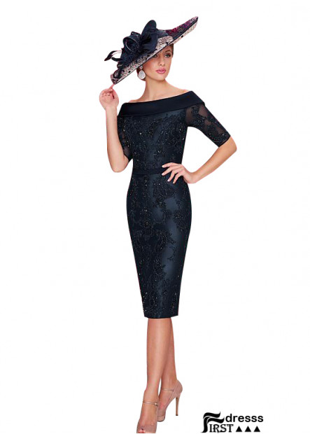 Sheath Navy Mother Of The Groom Dresses 2021