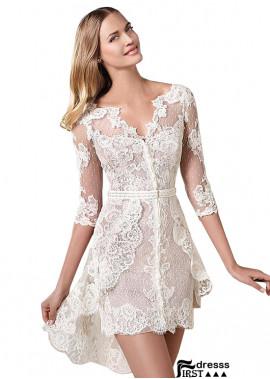 Firstdresss Lace Short Wedding Dress Women Mini Dress US