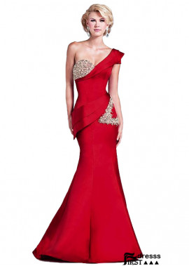 Firstdresss Red One Shoulder Women Formal Evening Dresses Online