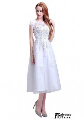 Firstdresss Short Lace Wedding Dress