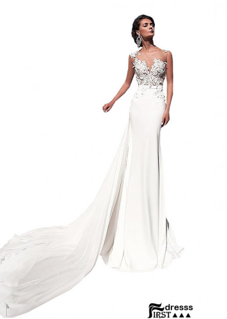 Firstdresss Casual Bridal Beach Wedding Dresses