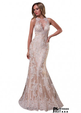 Firstdresss Champagne Satin and White Lace Wedding Dresses
