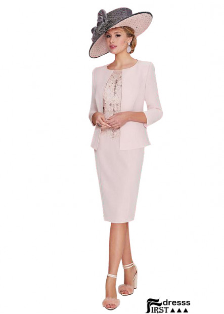 Firstdresss Short Pink Mother Of The Bride Dress With Jackets 2021