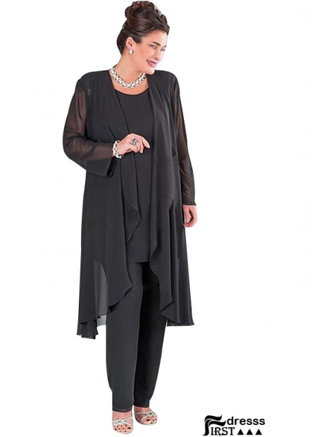 Firstdresss Plus Size Mother Of The Groom Pantsuits With Jackets