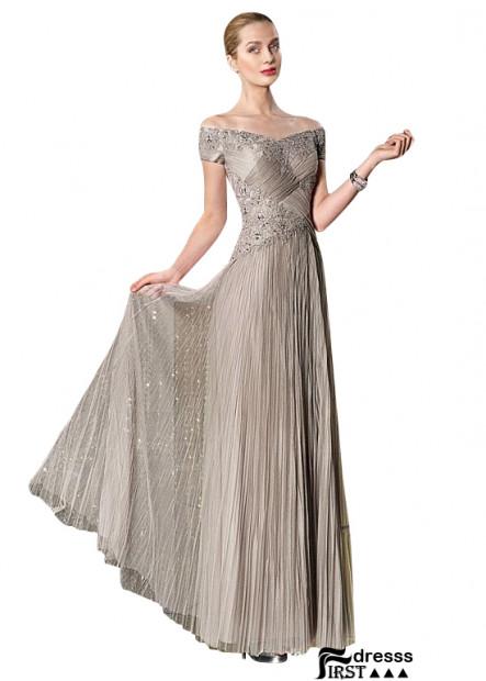 Firstdresss Long V Neck A Line Mother Of The Groom Dresses Online