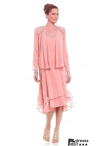 Firstdresss Knee Length Mother Of The Bride Dress For Evening USA