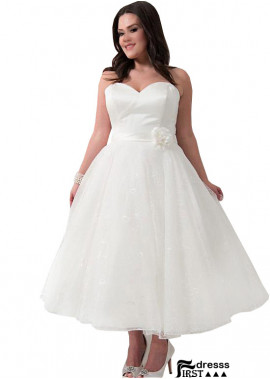 Firstdresss Short Plus Size Wedding Dress