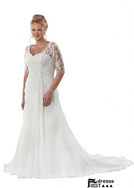 Firstdresss Beach Plus Size Wedding Dresses