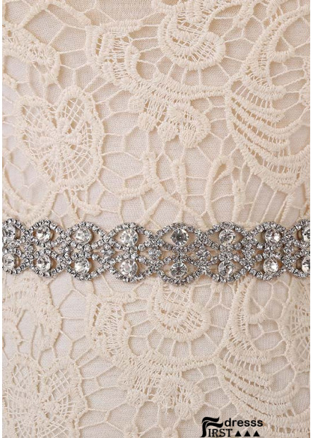 Shiny Glass Crystal Decorative Slim Sashes t901555921418