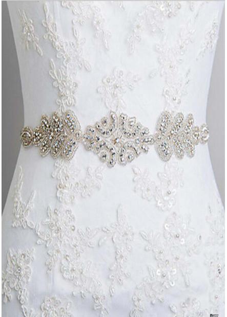 Diamond Ribbon Dual Purpose Bride Wedding Sashes t901555996636