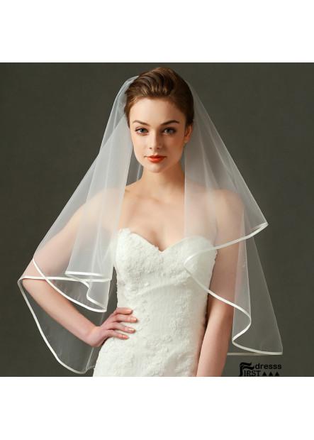 Bridal wedding dress wedding veil manufacturers wholesale exquisite edging short yarn Wedding Veil